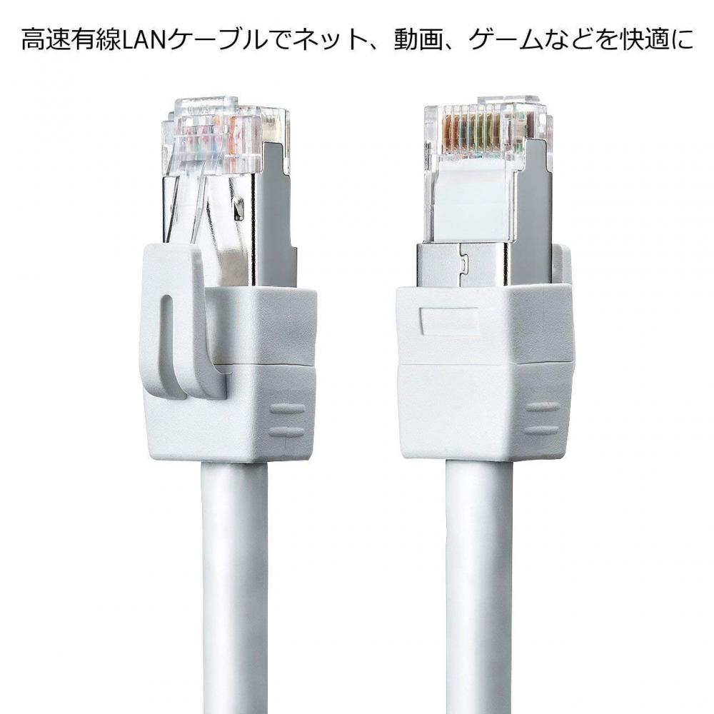 Sanwa Supply Category 6 STP LAN cable White 1m KB-STP6-01W