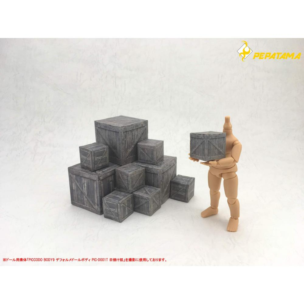 PEPATAMA Series 1/24 paper diorama BS-001 wooden box A