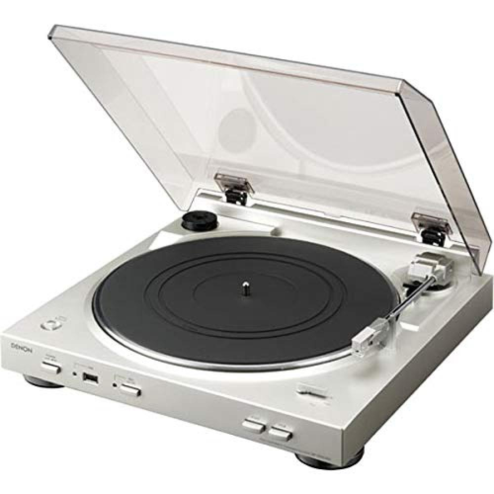 DENON Denon analog record player with phono equalizer Full auto cartridge included Silver DP-200USBSP