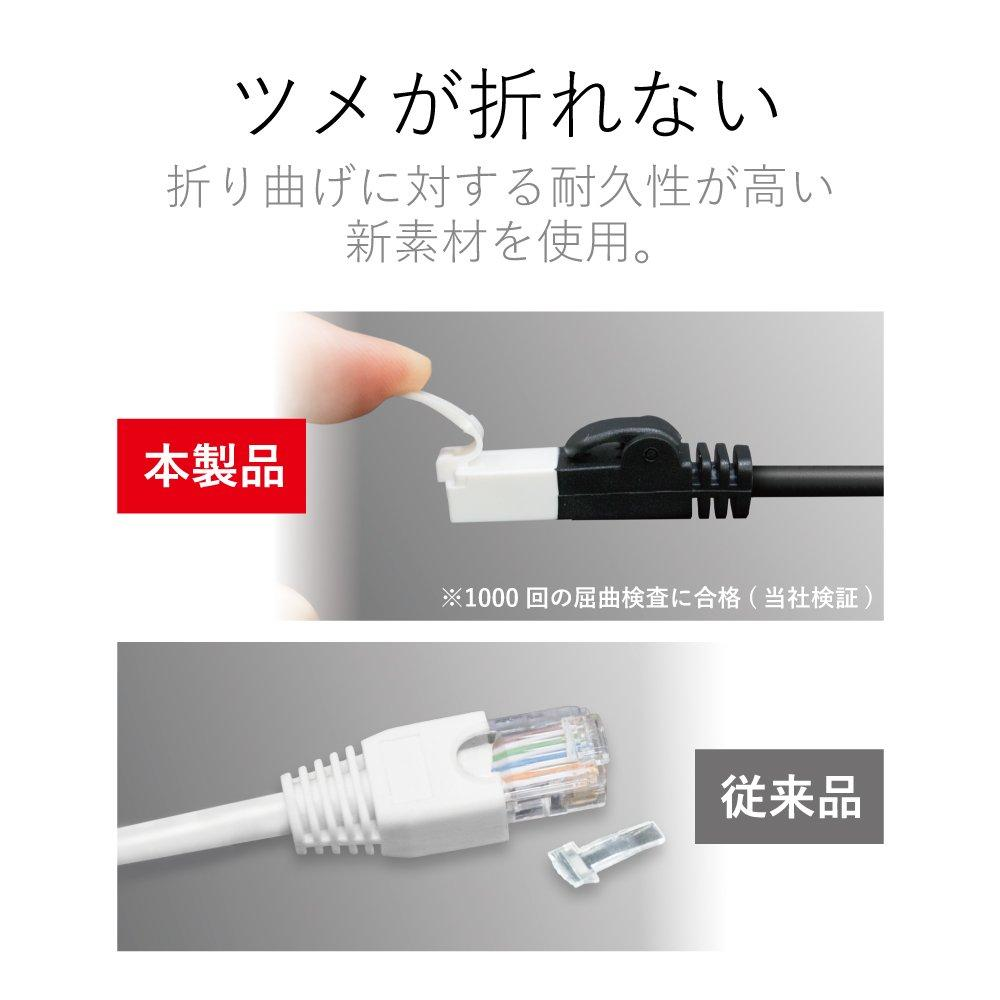 ELECOM LAN cable 2m Soft that does not break claws CAT6 Black LD-GPYT/BK20