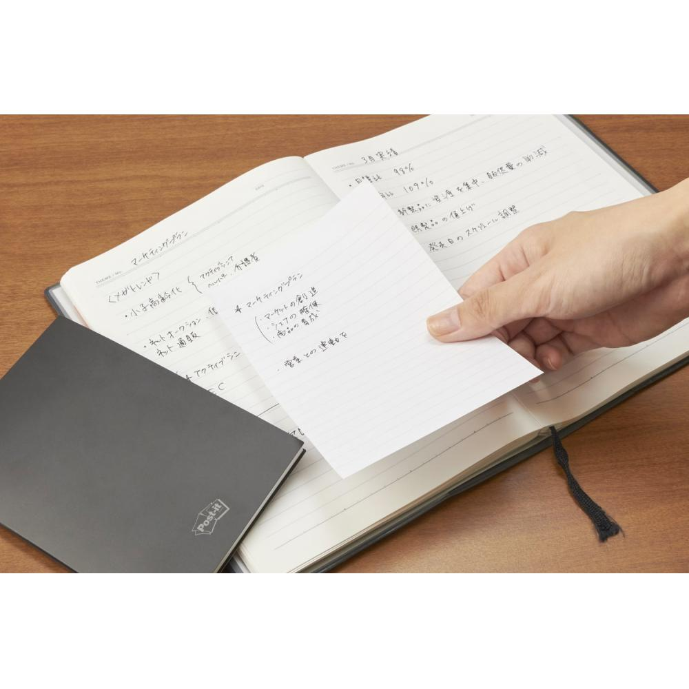 Post-it sticky note strong adhesive mobile memo notebook ruled line 6mm 74×125mm 45 sheets SSM-L01