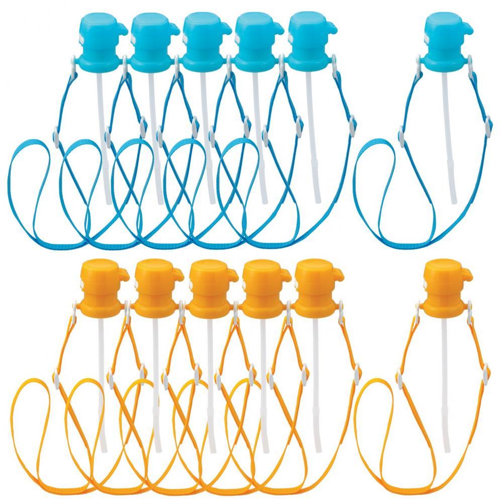 OSK PET bottle cap with shoulder belt 12 pieces (6 blue / 6 orange) PBC-8 set