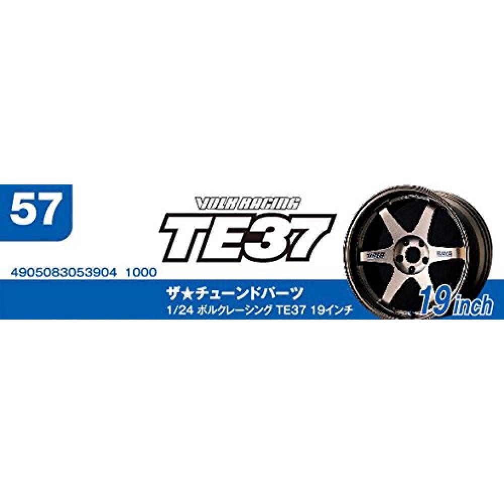 Aoshima Bunka Kyozaisha 1/24 The Tuned Parts Series No.57 Volk Racing TE37 19-inch Plastic Model Parts