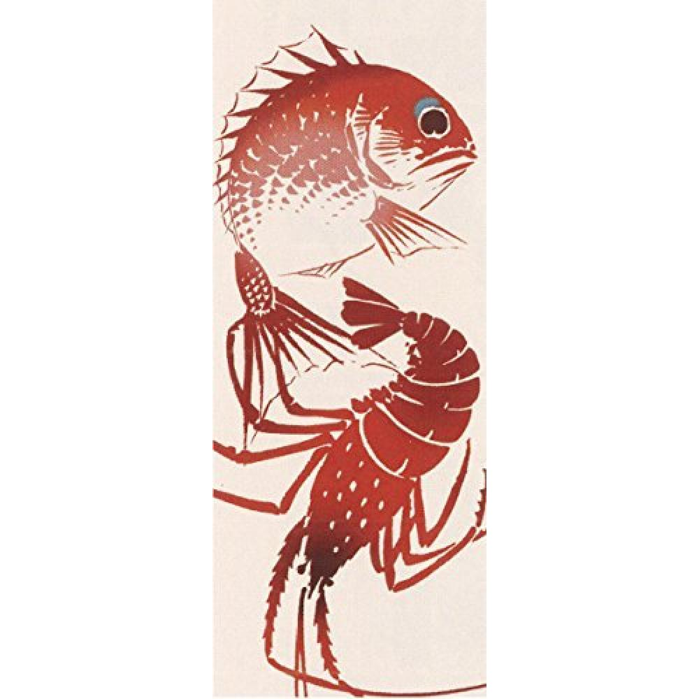 Prairie dog Wafuka WAFUKA Japanese towel Japanese sea bream and lobster TE-370