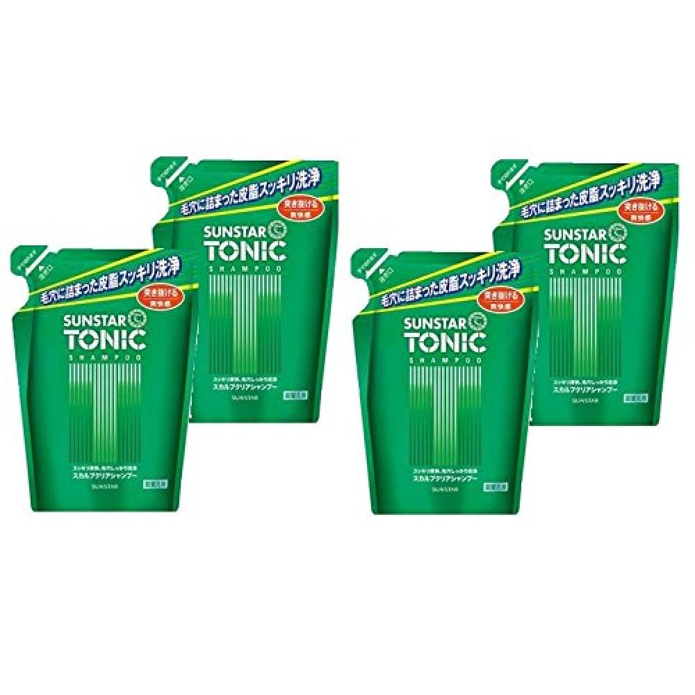 Sun Star Tonic Scalp Clear Shampoo Refill 380mL Men's [4 Piece Set]