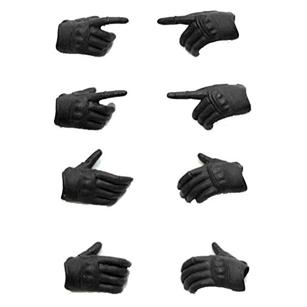 "LittleArmory-OP03: figma dedicated Tactical glove ""stealth black"" 1/12 scale ATBC-PVC-made runner kit"