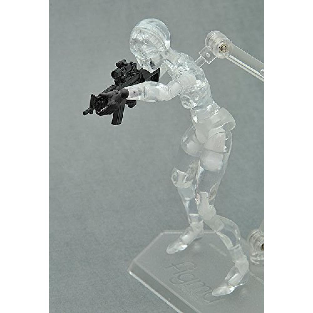 """LittleArmory-OP03: figma dedicated Tactical glove """"stealth black"""" 1/12 scale ATBC-PVC-made runner kit"""