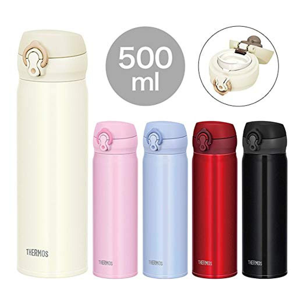 Thermos water bottle vacuum insulation mobile phone mug one-touch open type metallic red 500ml JNL-504 MTR