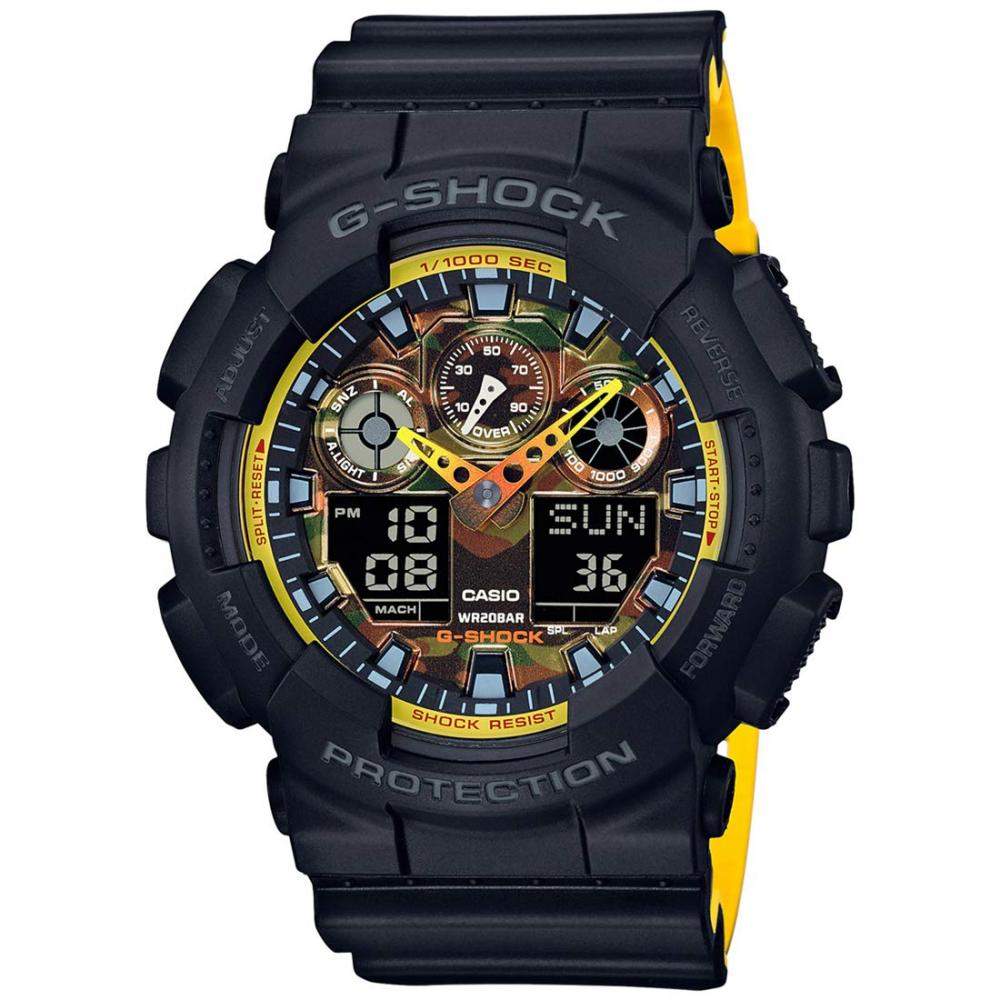 CASIO watch G-SHOCK (G shock) sporty mix GA-100BY-1A men's overseas model [reverse import goods]