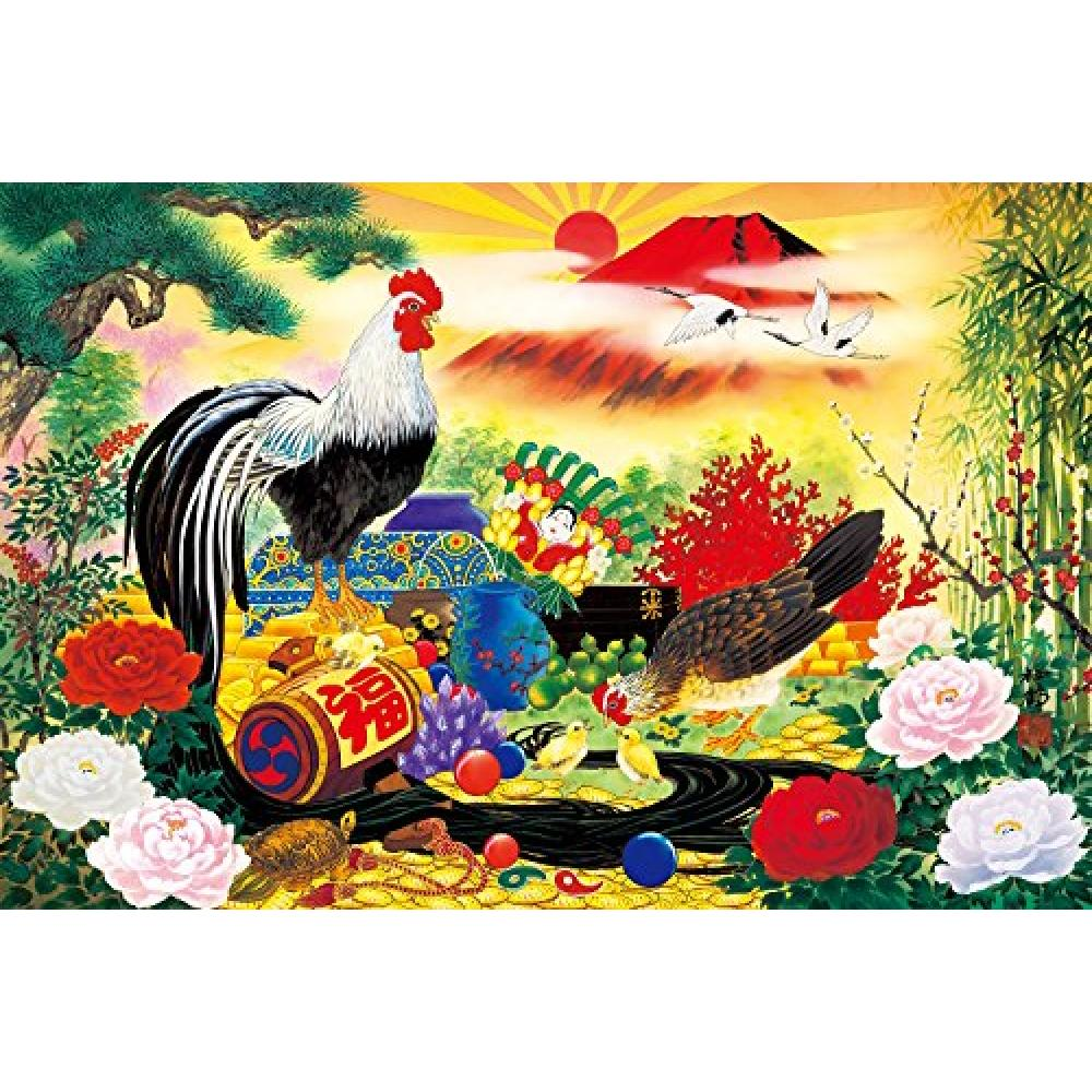 1500 Piece Jigsaw Puzzle Master of the Good Luck Zodiac Rooster Small Piece (50x75cm)
