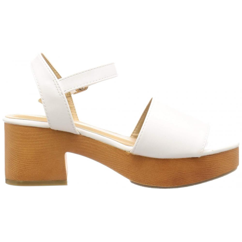 [Liberty Doll] wedge heel strap was pursuing the silhouette and comfort Legs Sabo sandals / 4011 4011 Ladies White 23 cm