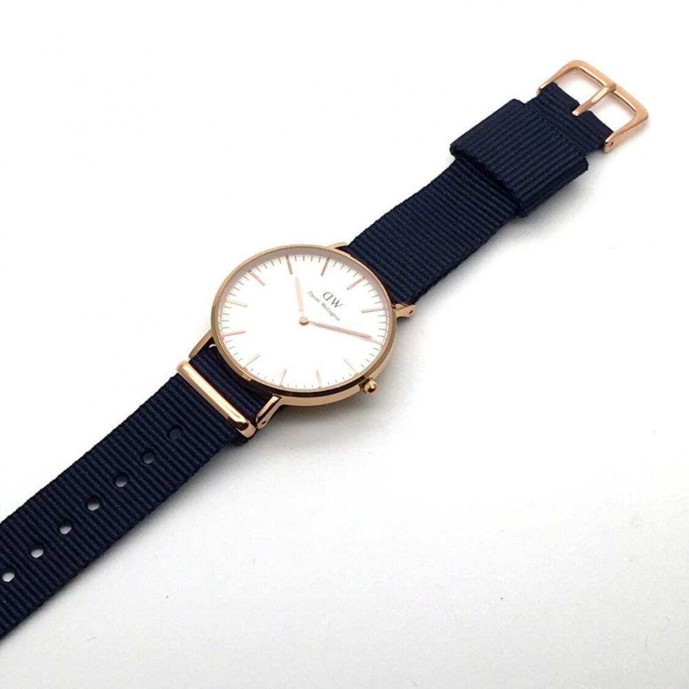 Replacement Belt for DW Daniel Wellington NATO Belt Rose Gold Buckle Wine Midnight Blue 18mm 20mm (Midnight Blue 20mm)