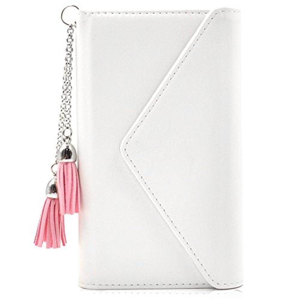 ZenFone 5 case notebook type iitrust with card holder with strap ZE620KL wallet type cover white ZE62K-QBK1-AI