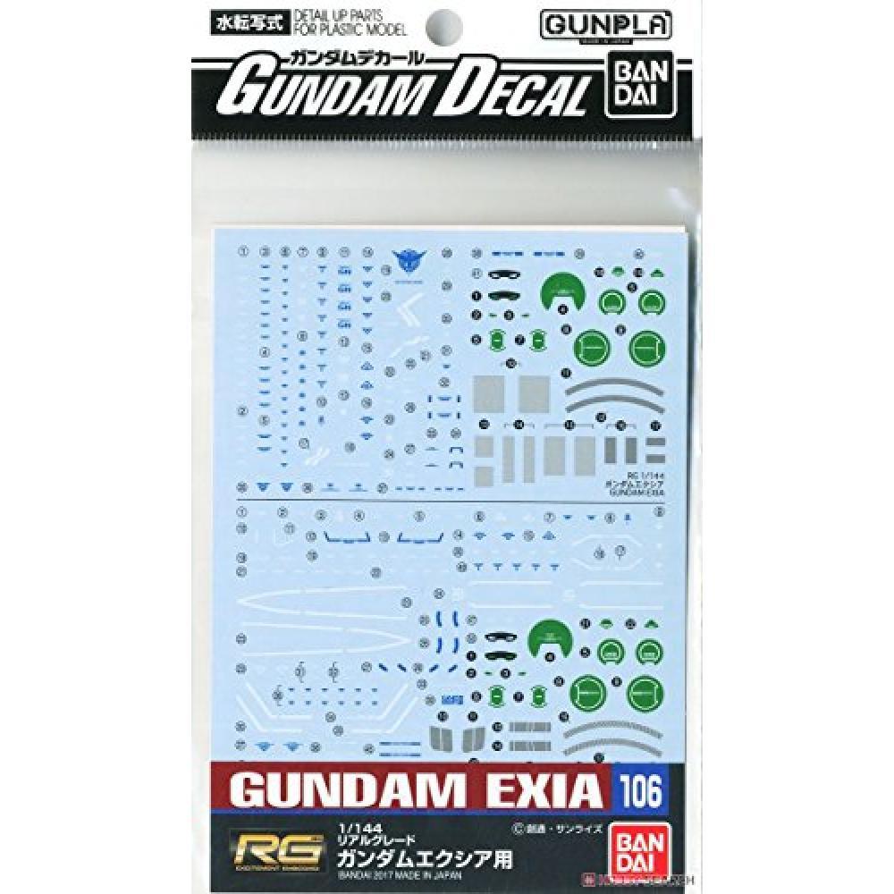 For Gundam decals No.106 RG 1/144 Gundam Exia
