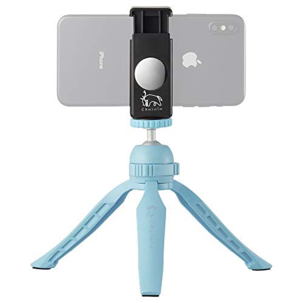 HAKUBA smartphone mini tripod Chululu tripod KOLMIO free pan head lightweight compact blue HCH-KMBL