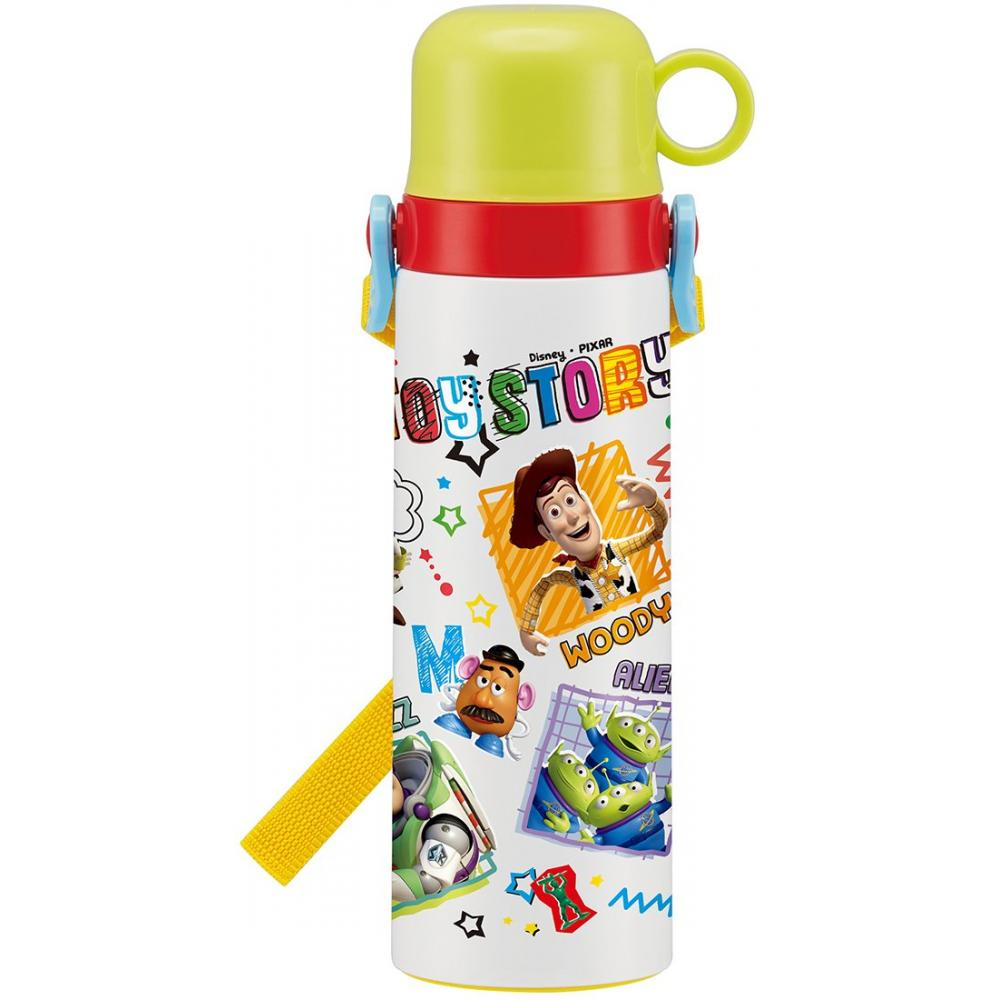 Skater Kids Water Bottle with Cup Stainless Steel 550ml Toy Story Disney