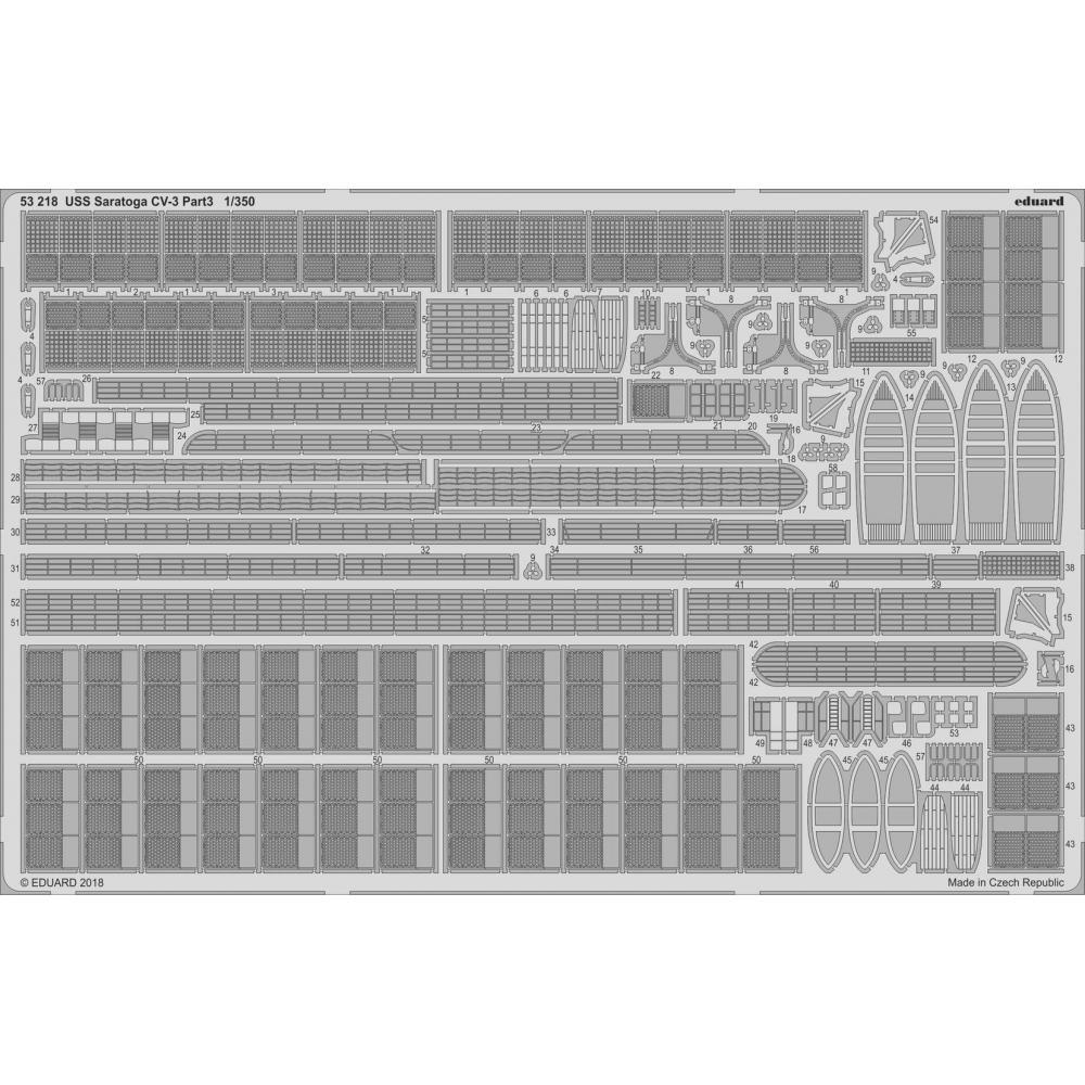 Eduard 1/350 USS Saratoga CV-3 Part 3 (for trumpeter) plastic model parts EDU53218