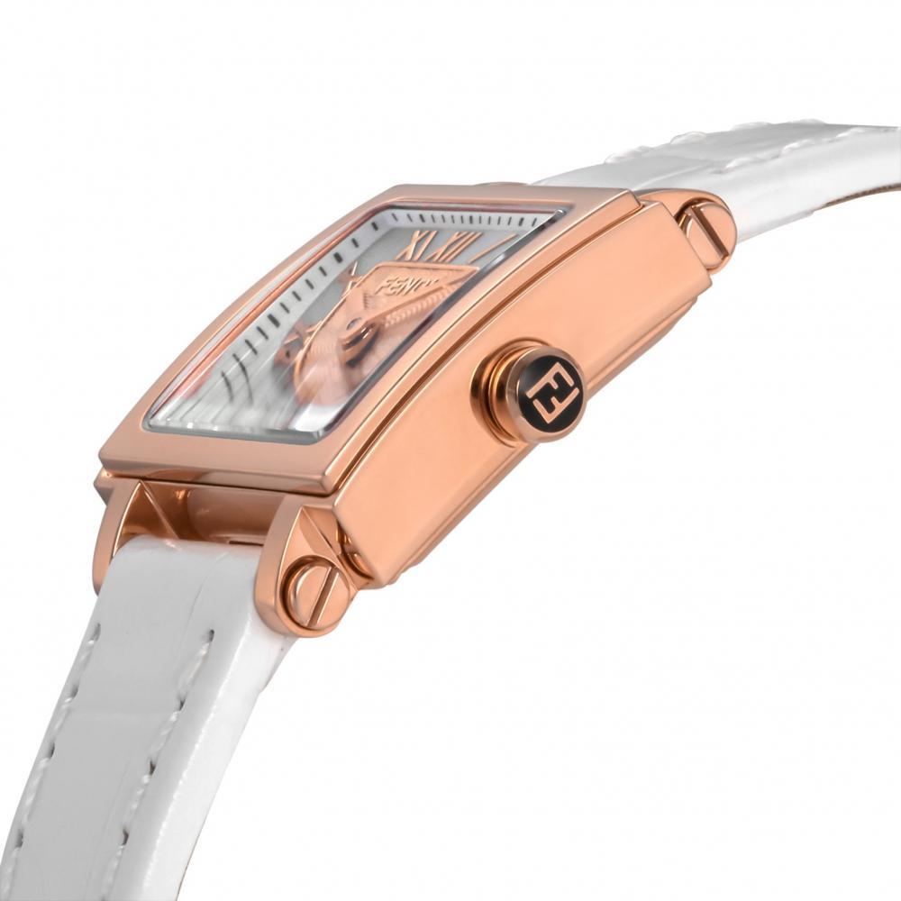 FENDI watch QUADOROMINI white pearl dial F604524541 Ladies