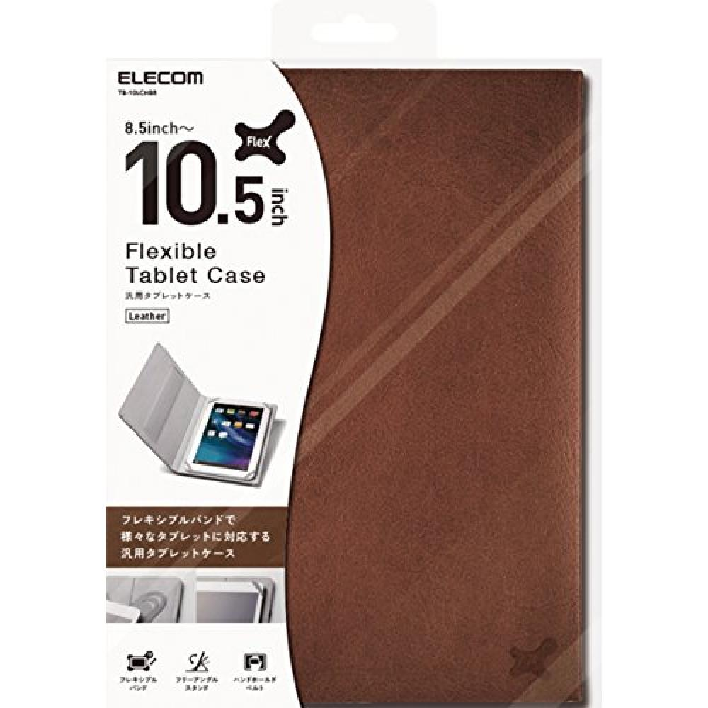 ELECOM tablet general purpose case 10.1 inch leather type with stand function Brown 8.9 inch 9.7 inch 10 inch 10.1 inch 10.5 inch TB-10LCHBR