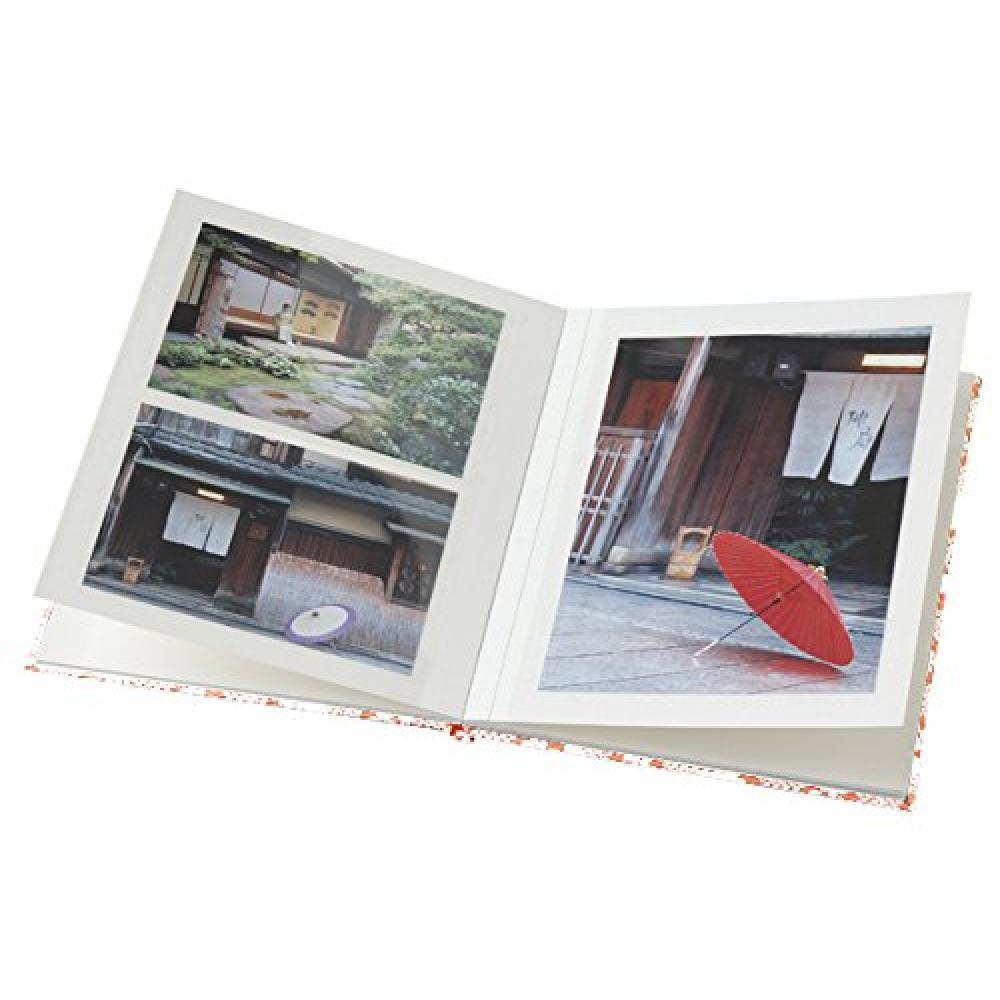 Chikuma Album Free Pitat Album Yuzen L 1120 pages Lattice peach 12627-0