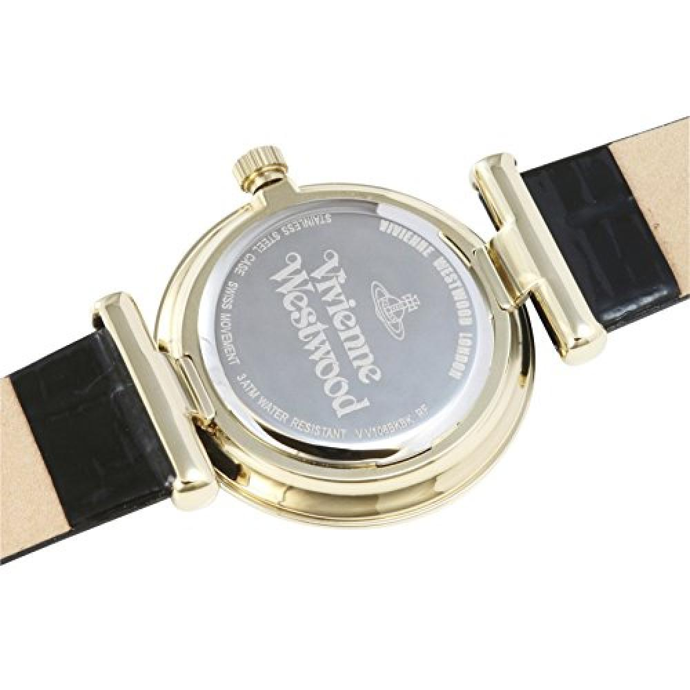 [Vivienne Westwood] Watch TRAFALGAR Black Dial Black Leather Quartz VV108BKBK Black