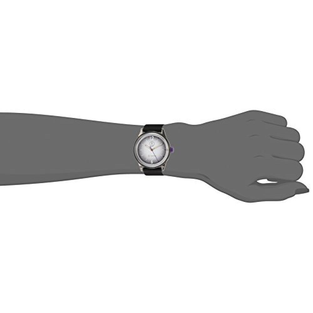Q & Q SmileSolar watch music festival 10 ATM water resistant urethane belt gradient black RP18-007