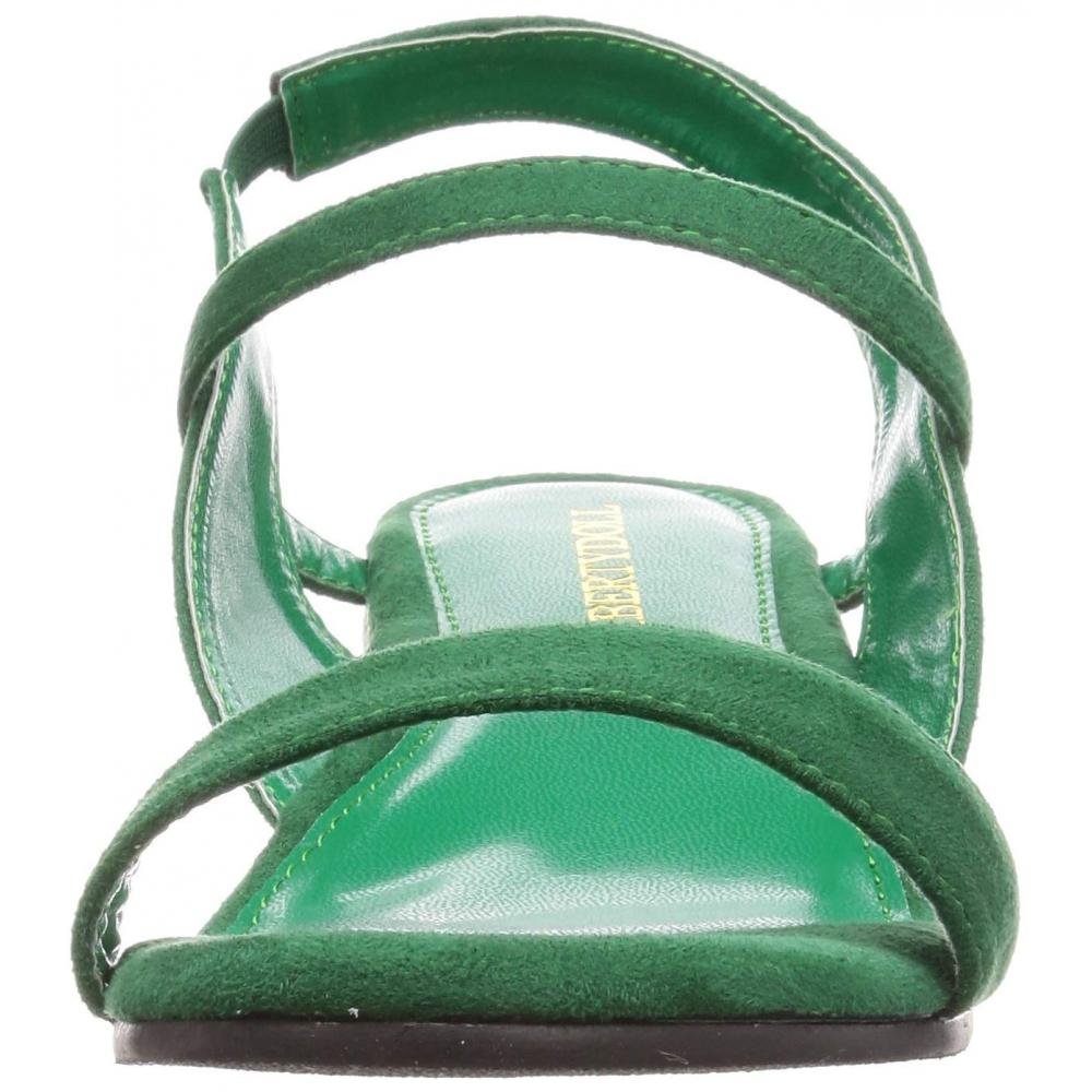 [Liberty Doll] fluffy cushion, bend wedge separate rubber strap Legs sandals / 5587 5587 Women's green 24 cm