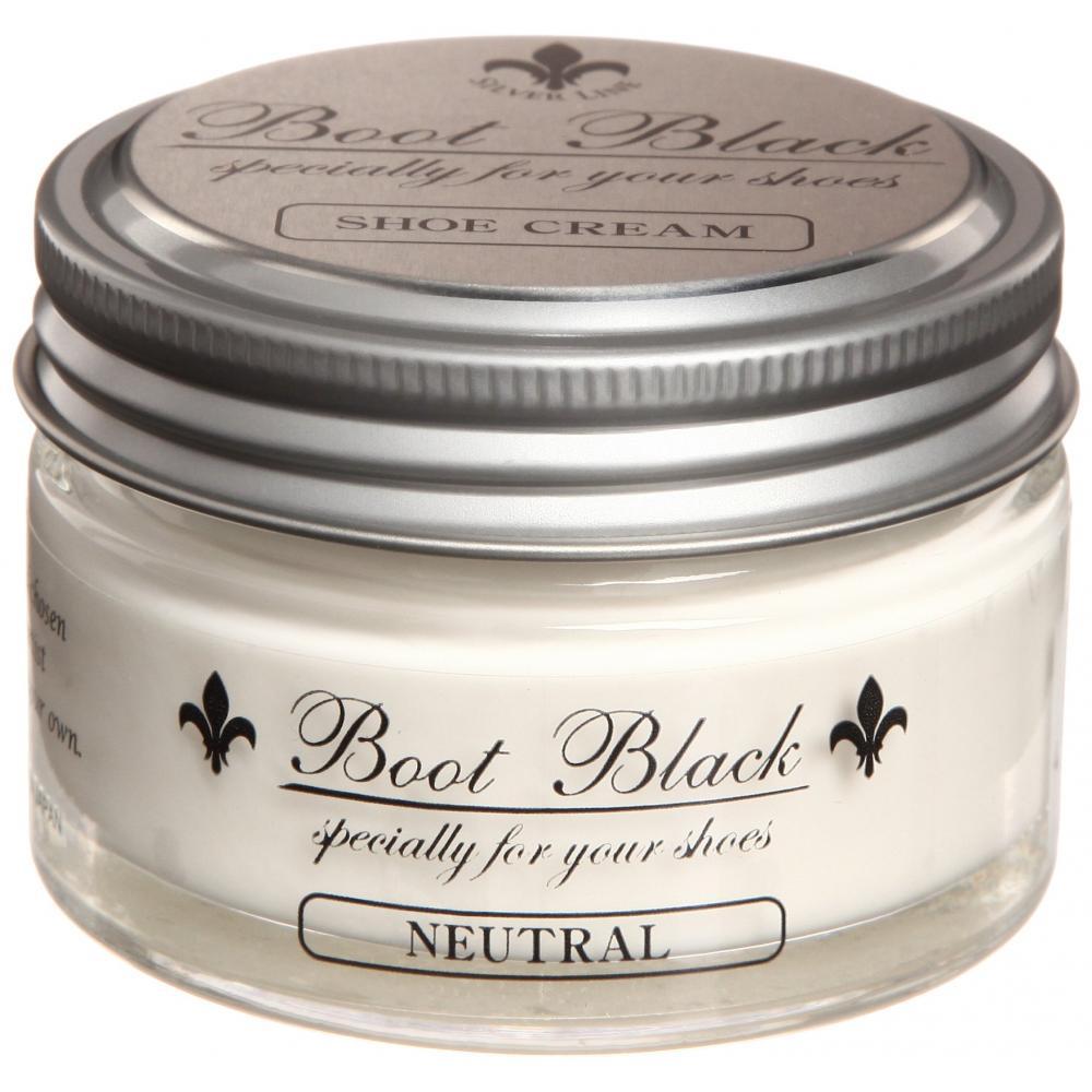 [Columbus] Shoe Cream Boot Black Silver Line Cream Puff Neutral