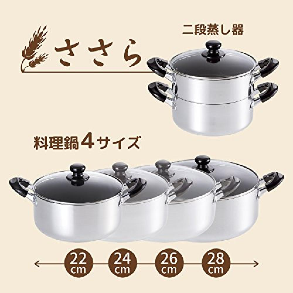 Hehei Freys Curry Stew Curry Stew Oden Cooking Pot Sasara 24cm Fluorine resin processing Glass lid with large pan IH compatible SM-8817