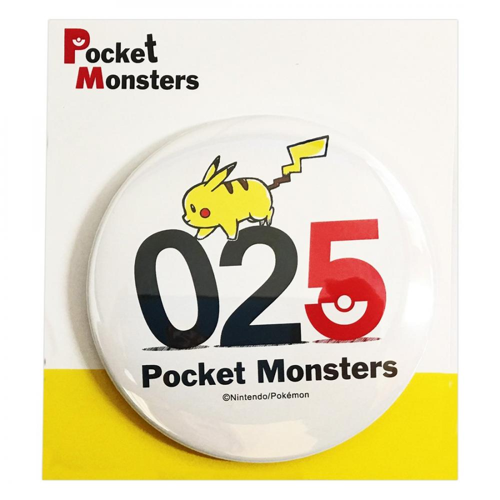 Pokemon can batch φ7.5cm Pikachu 025 PMTB858
