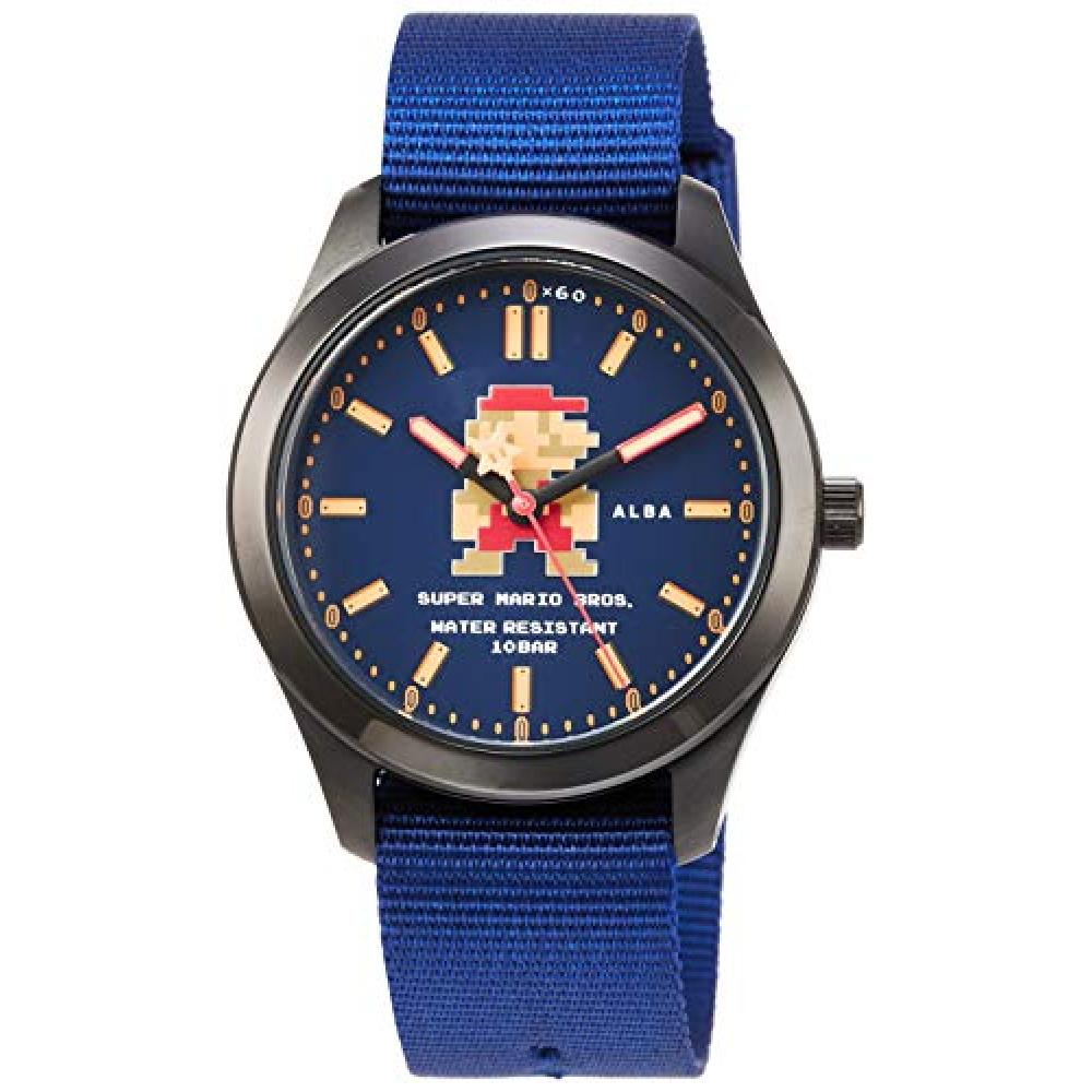 [Seiko Watch] Wrist Watch Aruba Super Mario Collaboration Model Starting Mario Design Navy Dial Enhanced Water Resistant (10 ATM) ACCK422 Blue for Daily Life