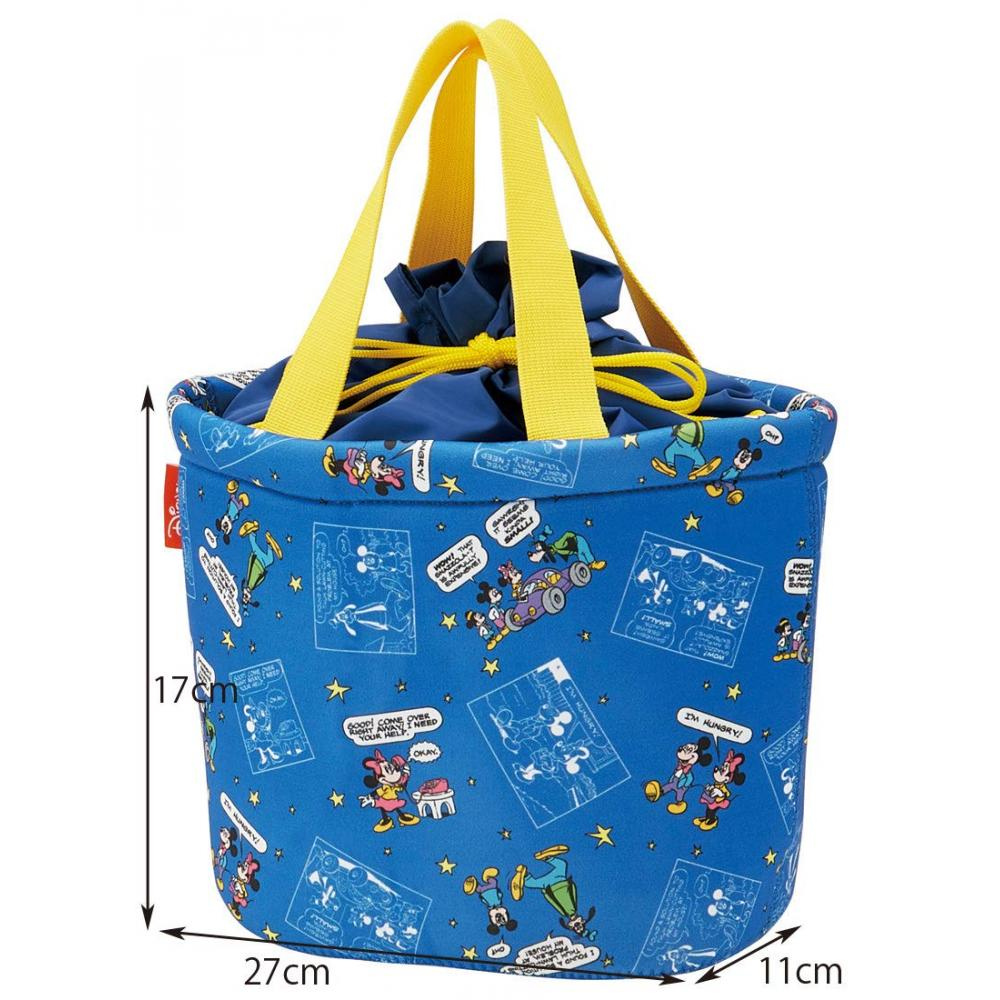 Skater tote bag drawstring shopping bag lunch back Mickey Mouse & friends WSLBK1