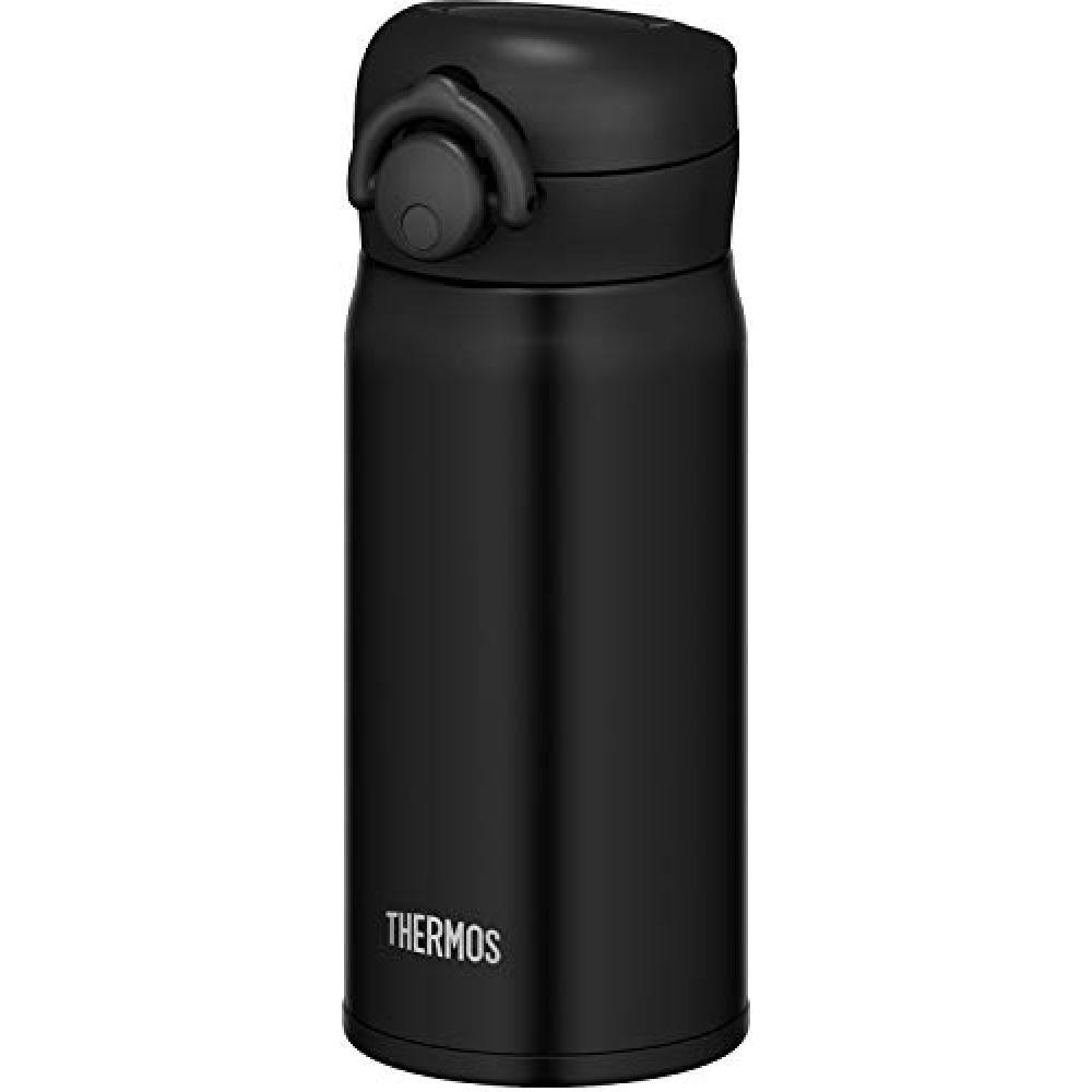 Thermos water bottle vacuum insulation mobile phone mug one-touch open type matte black 350ml JNR-351 MTBK