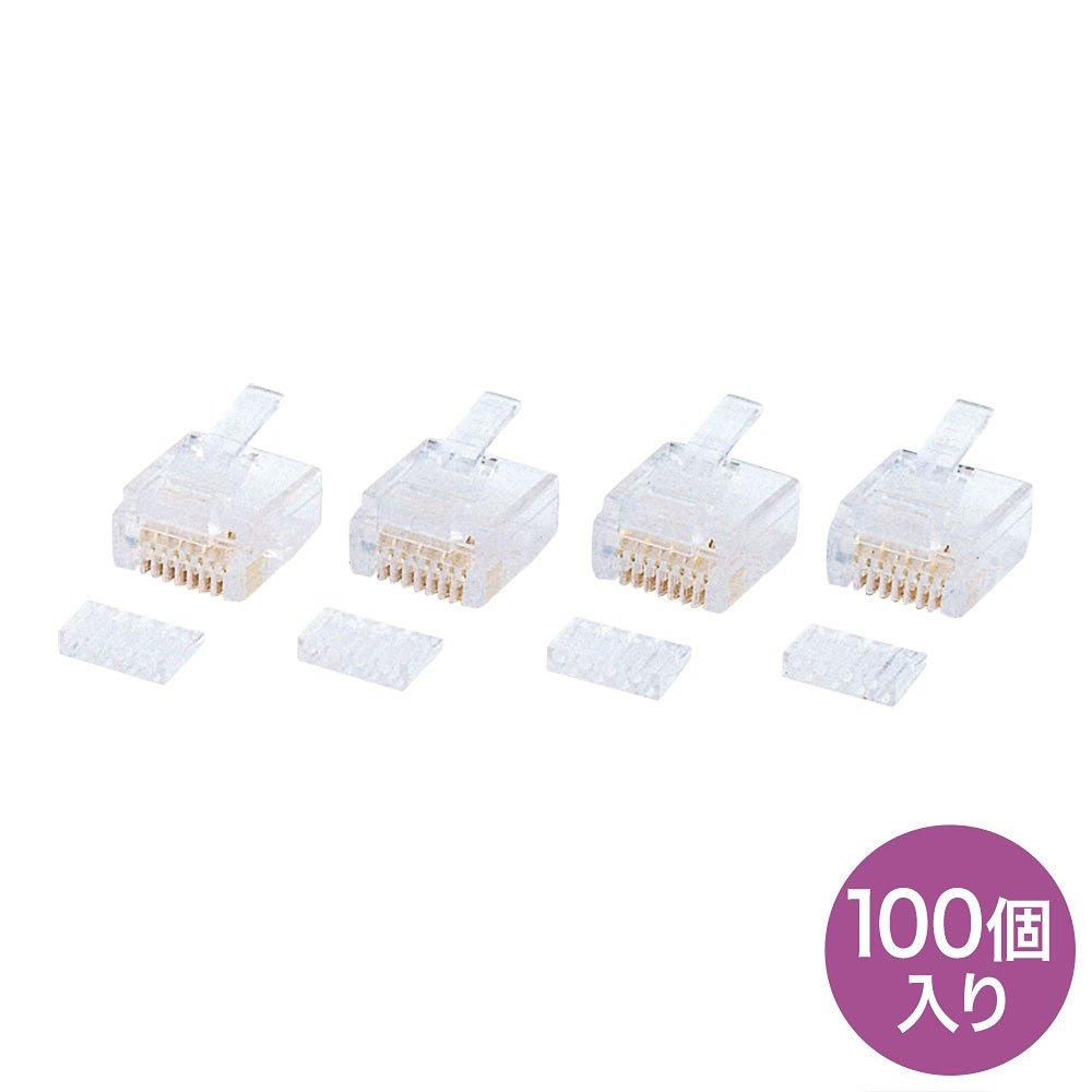 Sanwa Supply RJ-45 connector (CAT5e single wire alternate system) 100 pieces ADT-RJ45-100AN