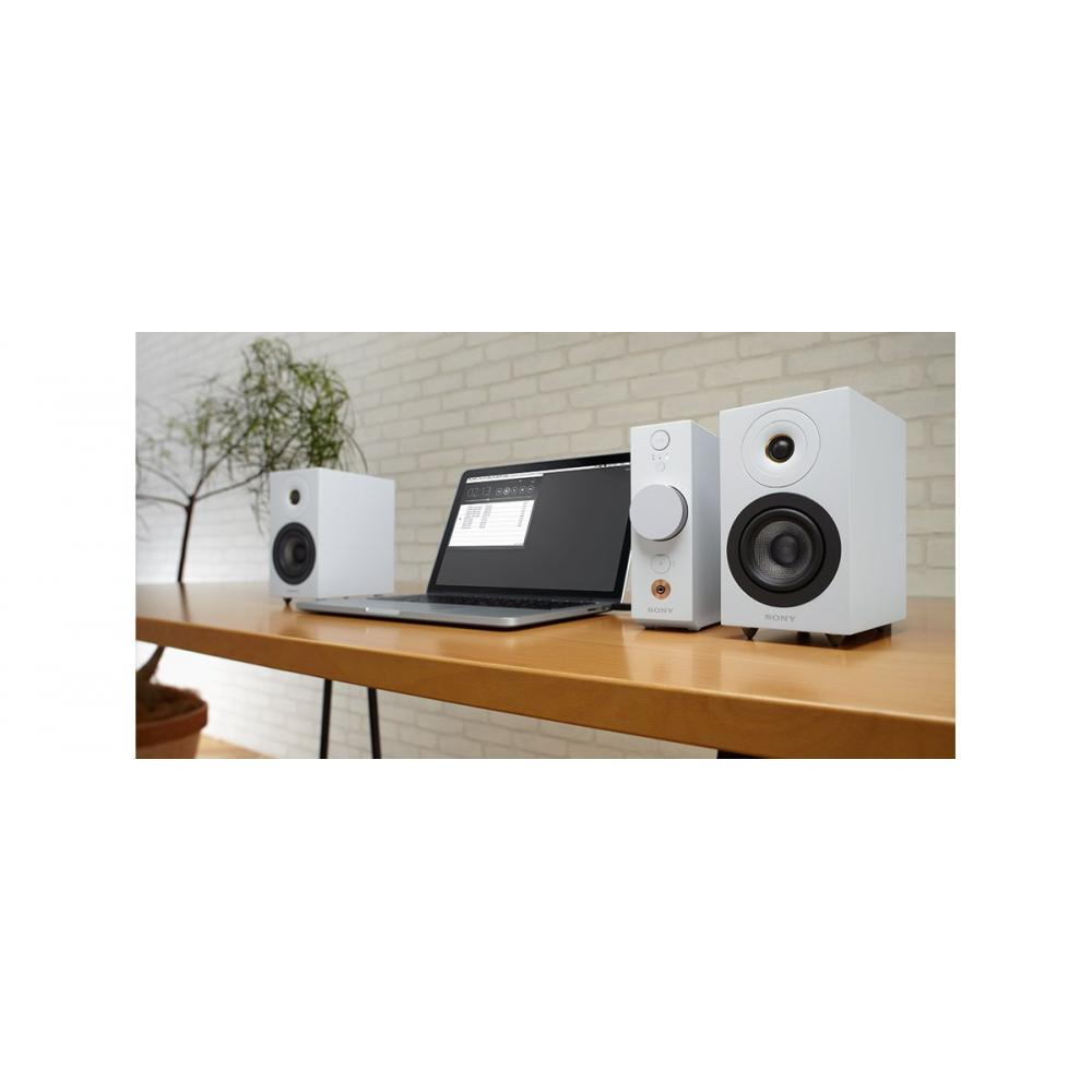 Sony SONY compact audio system CAS-1: Bluetooth/high resolution compatible headphone amplifier mounted white CAS-1 W