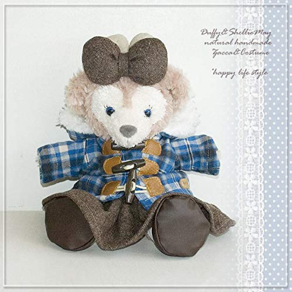 Duffy Sherry Mei Costume Check Duffle Coat & Skirt Shoes Ribbon Set coat6-hp for Hand Puppet