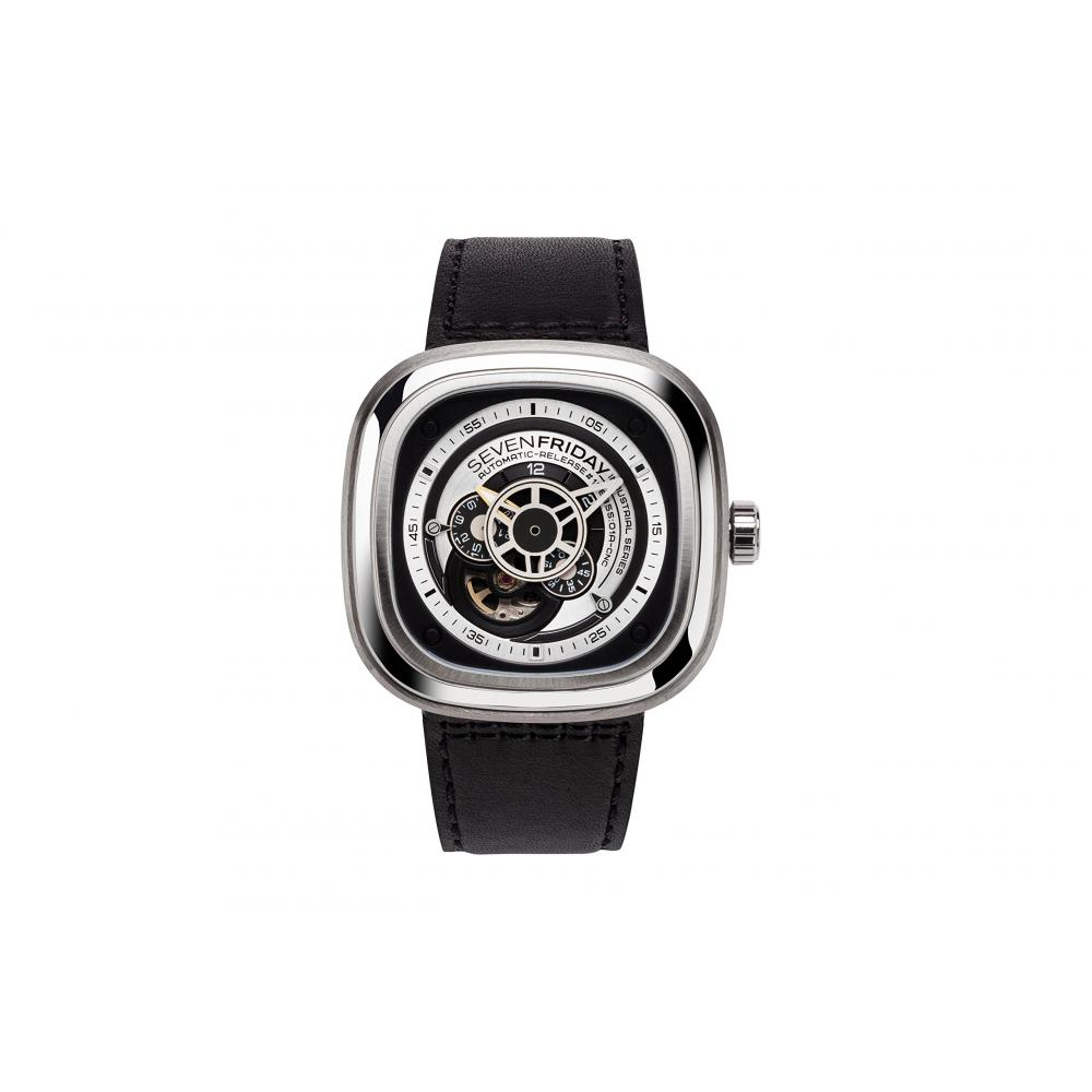 SEVENFRIDAY watch P-series sandblasting with clock P1B / 01 Men's