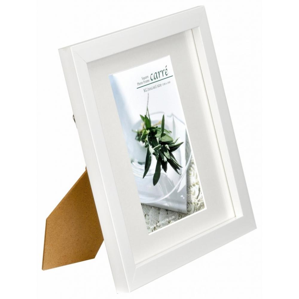 HAKUBA photo frame Square wooden amount boyfriend postcard size one side white postcard wooden FSQCR-WTKG1