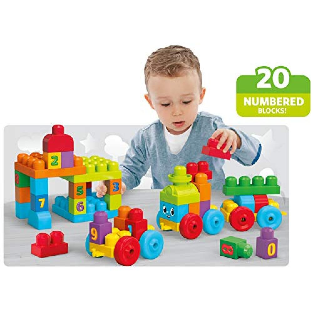 Megablocks 123 trains from Fisher-Price 1 year old 50-piece DKX60