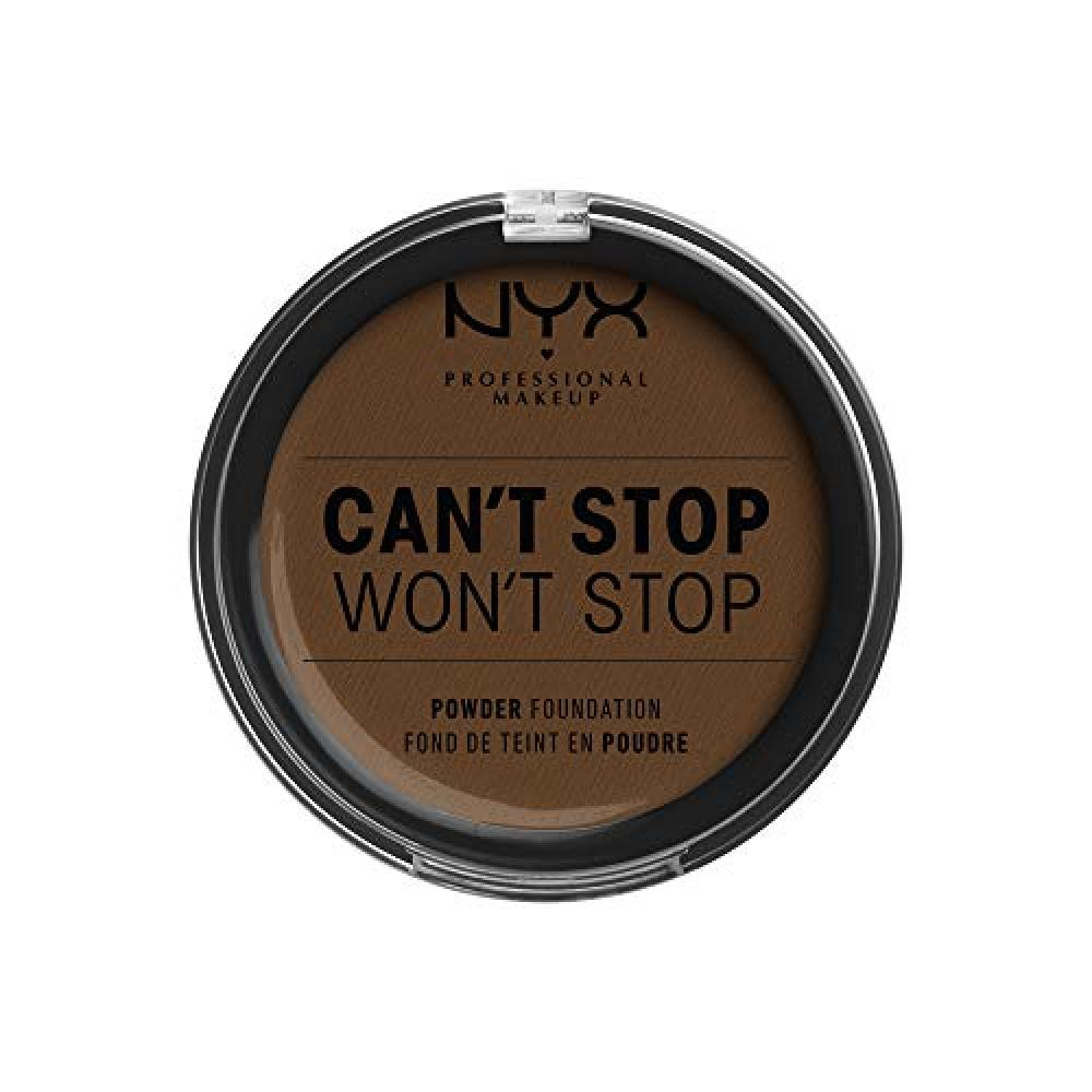 NYX Professional Makeup Cant Stop Want Stop Full Coverage Powder Foundation 22.3 Color Walnut Body