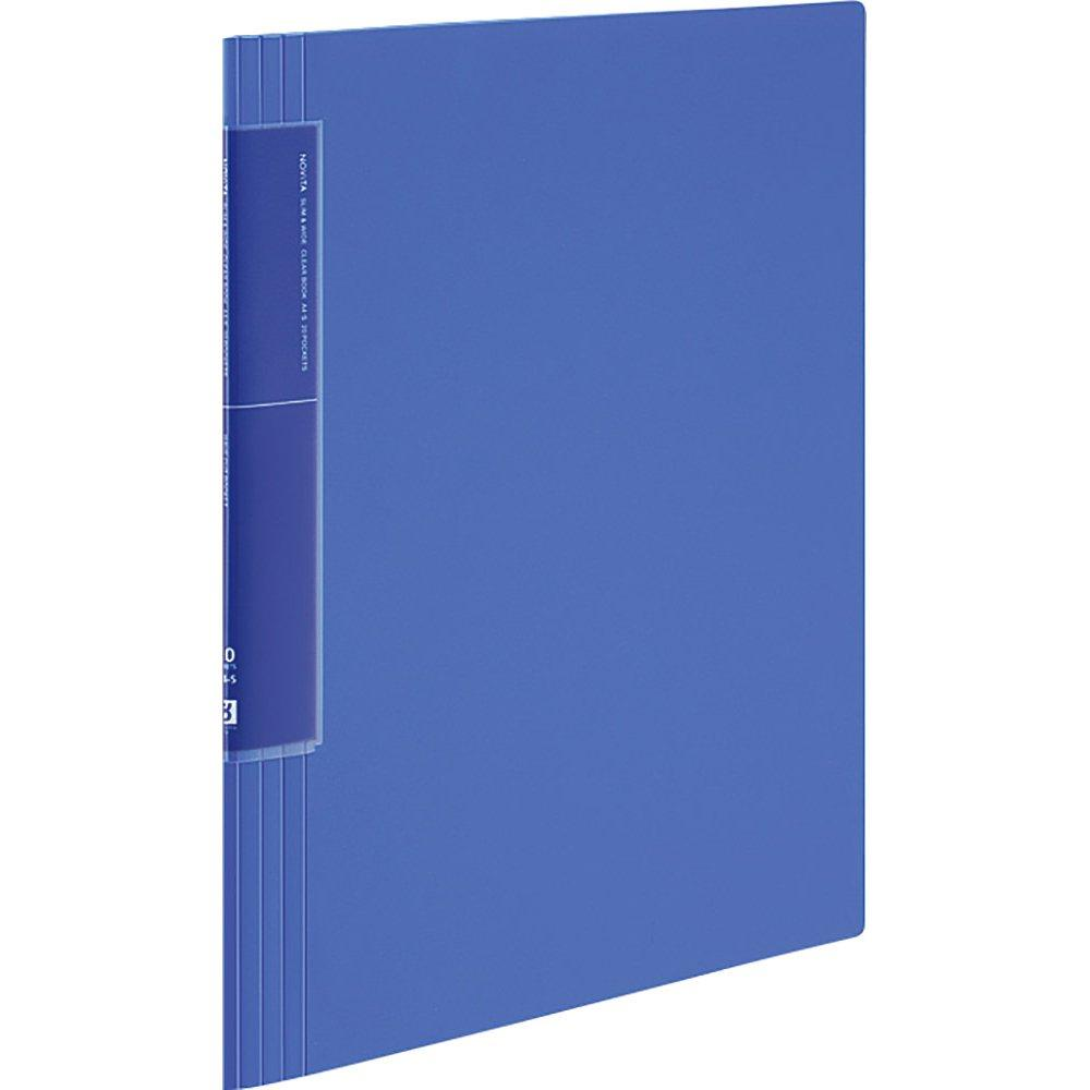 KOKUYO File Clear Book Novita Wave Cut Pocket A4 20 Sheets Blue La-TN560B