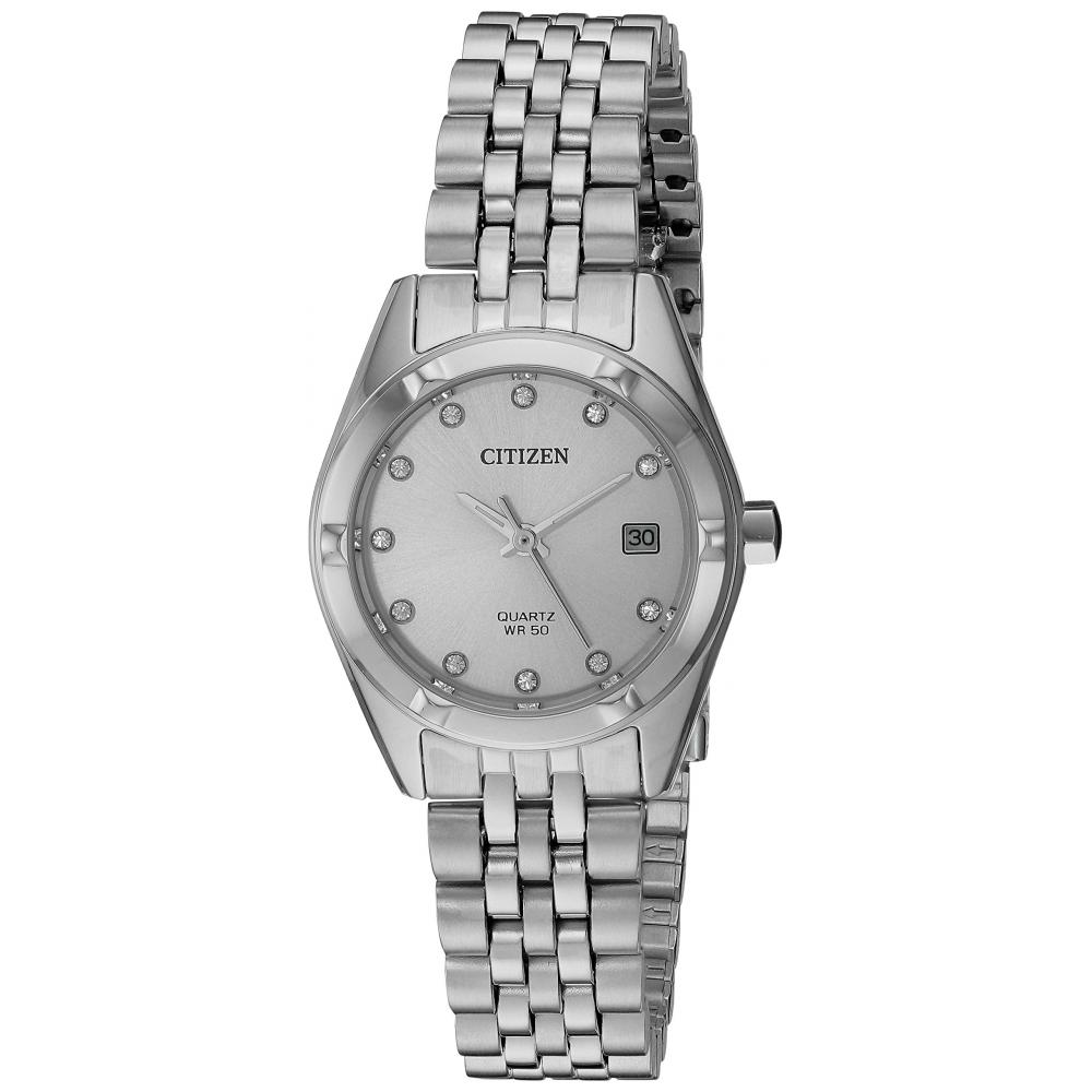 [Citizen] Citizen Watch Women's Quartz Stainless Steel Automatic Watch, Color:Silver-Toned Japan Made Quartz EU6050-59D Ladies
