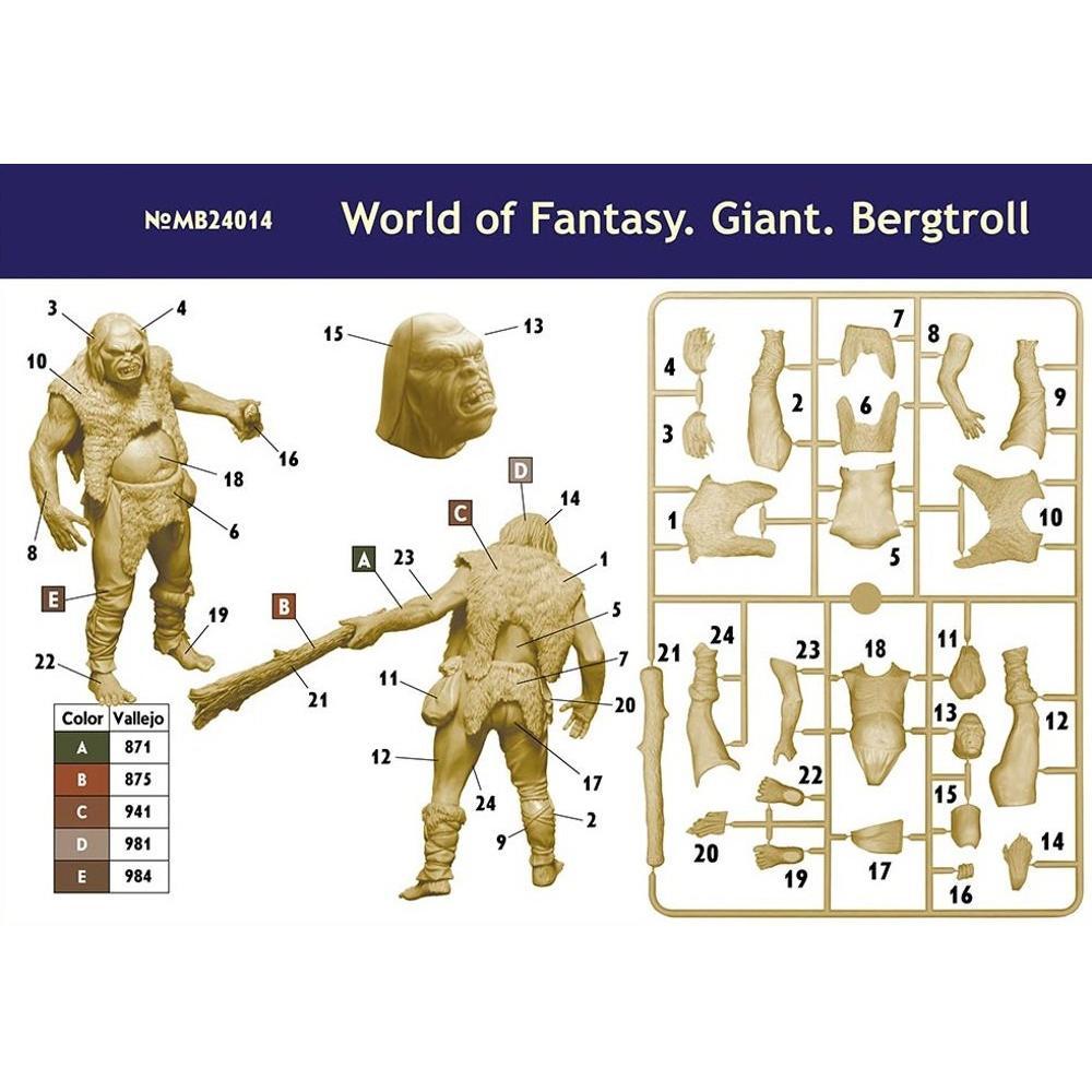 Master Box 1/24 Giant Berg Troll Fantasy Plastic Model MB24014