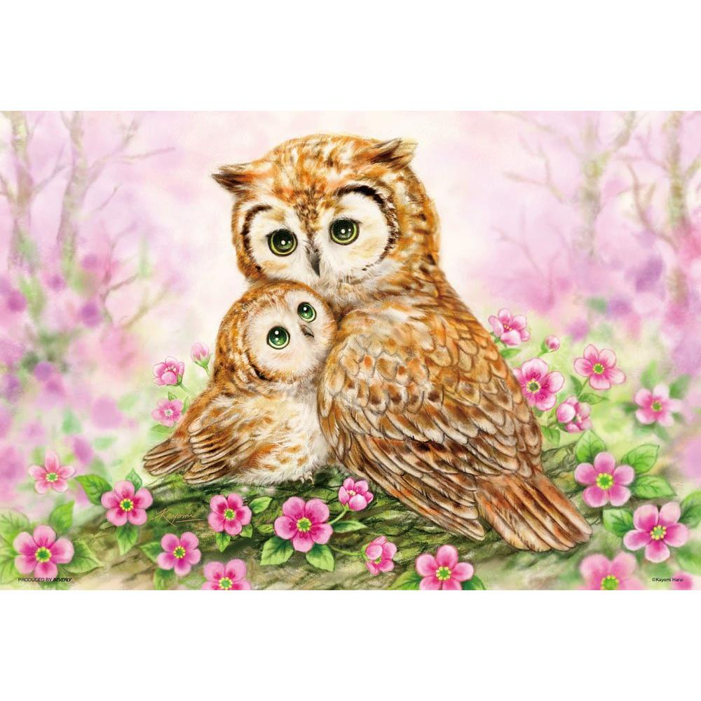 300-piece jigsaw puzzle peace ~ Owls Cuddle ~