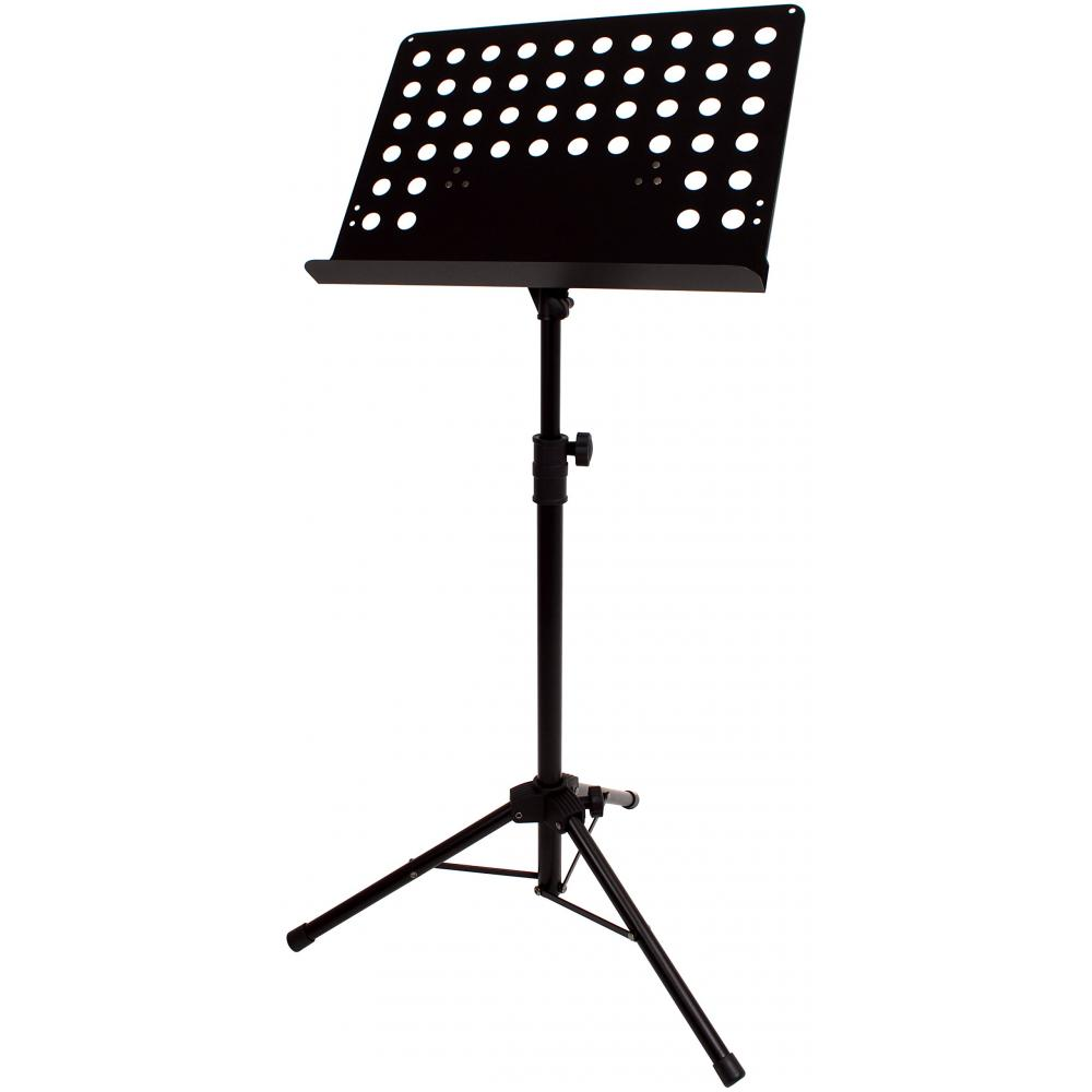 KC Music stand M-320T/BK Black Foldable height adjustable