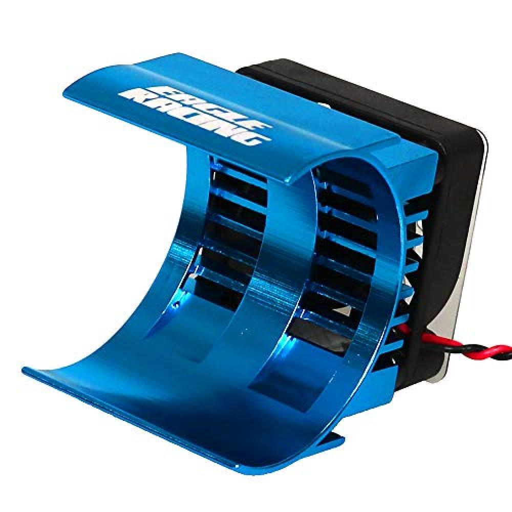 Eagle model SP motor radiator 7.2V cooling fan with a light blue 2479-LBL
