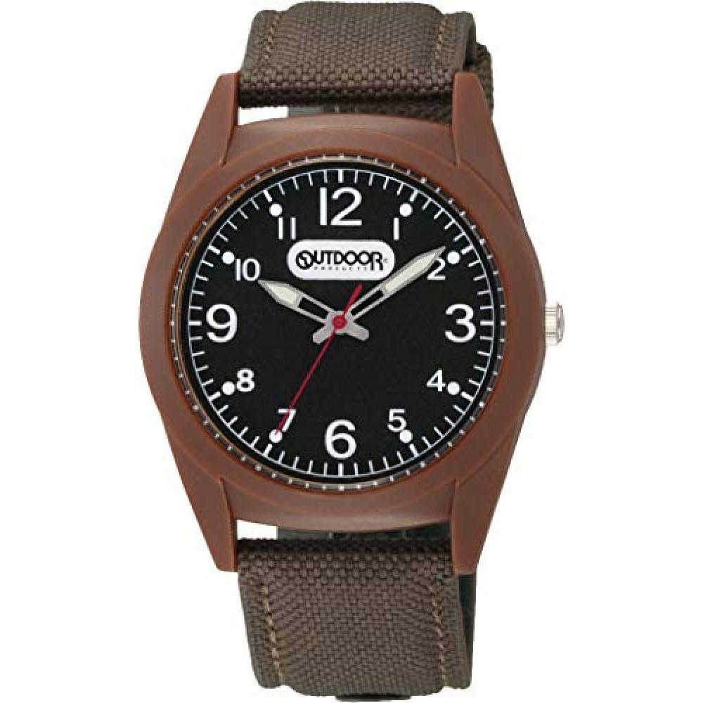 [Citizen Q&Q] Wrist Watch Analog OUTDOOR PRODUCTS Waterproof Nylon Leather Belt VS46-006 Men's Brown