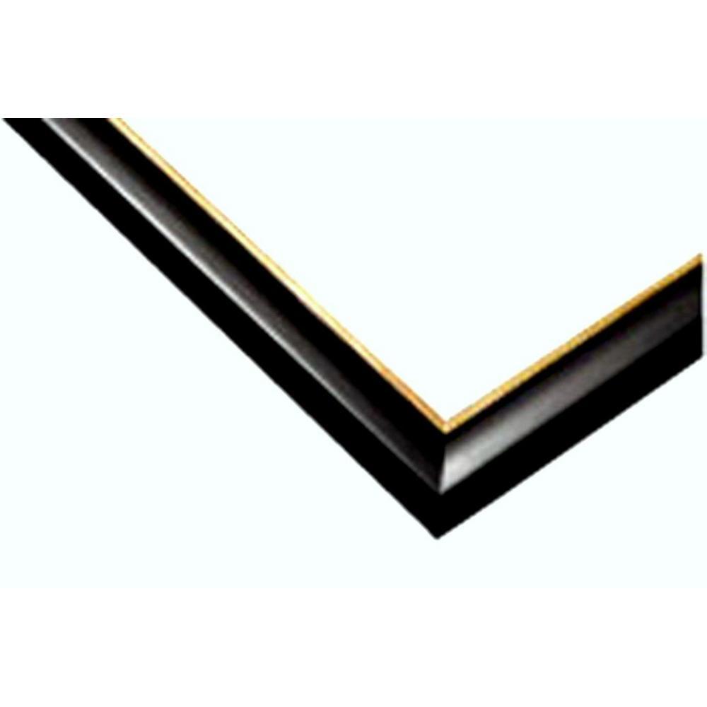 Wooden puzzle frame Woody panel Excellent Gold Line Shine black (18.2x51.5cm)