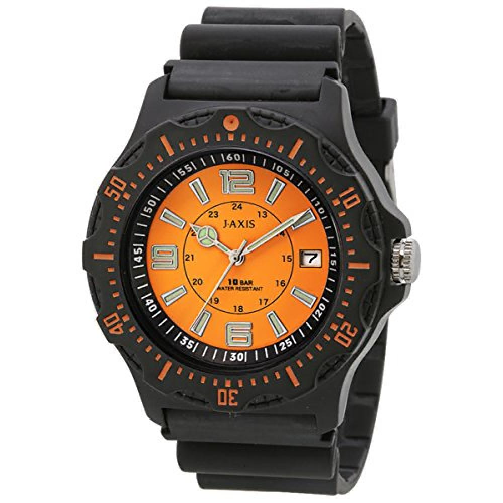 J-AXIS watch 10 ATM water resistant date display easy-to-read dial light NAG51-OR Men's