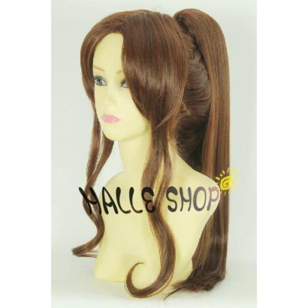 Pretty Soldier Sailor Moon Sailor Jupiter Sailor Jupiter Cosplay Wig Heat wig costume Halloween, Christmas, events, festivals costume disguise such as a wig net one with